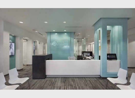 Very Clean Reception Design   Advanced Orthodontics Reception Desk Main