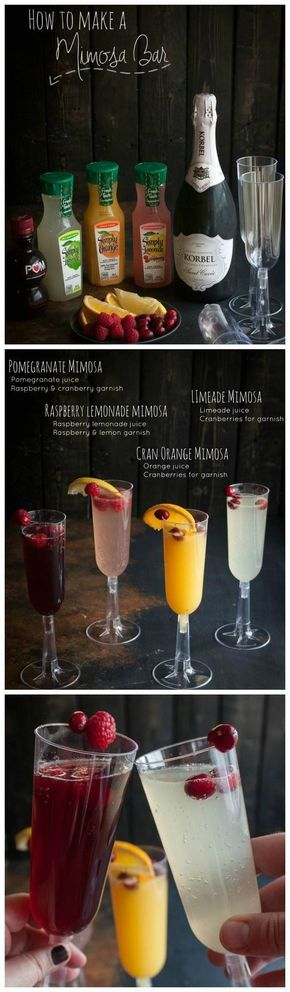 A brunch would make the perfect low-key party to celebrate your engagement. One thing you can't forget to include at the brunch is a Mimosa Bar. Here's your guide to making the best mimosa bar possible:  http://www.sweetphi.com/make-mimosa-bar/?crlt.pid=camp.rVYZ8zo9XvYq