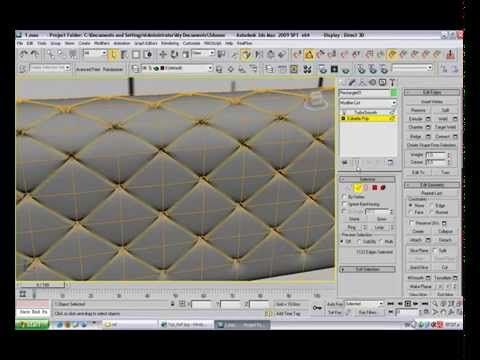 Tutorial Sofa Modeling in 3ds max