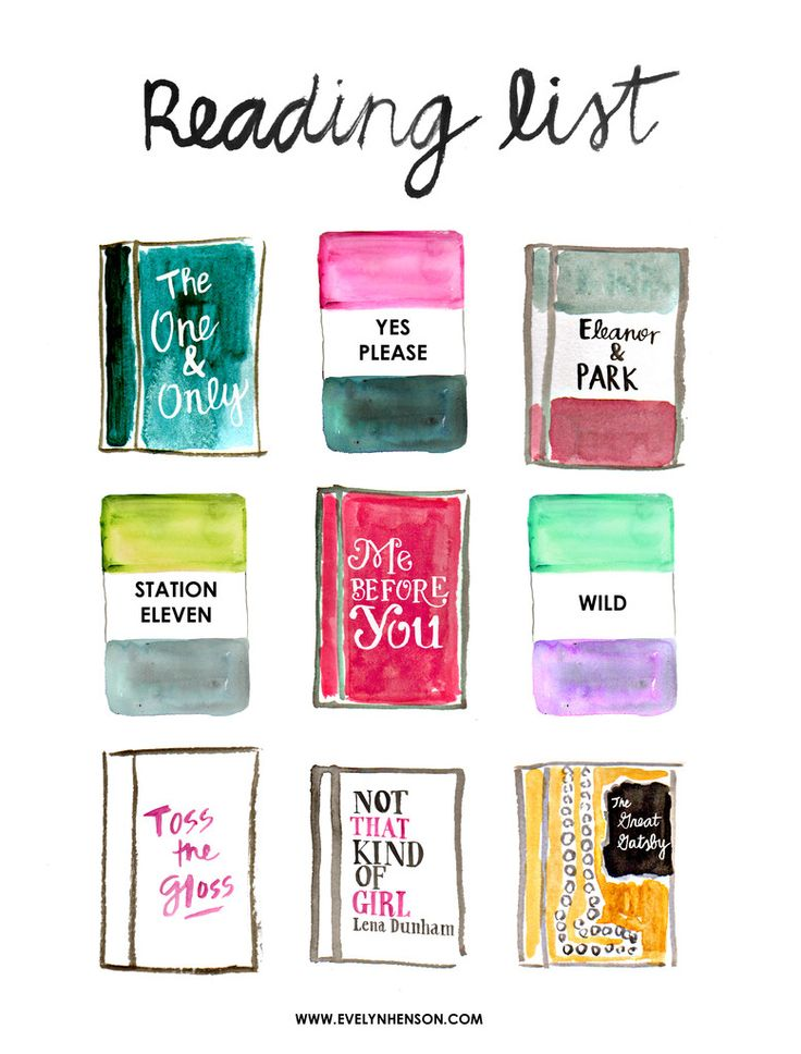 Books to read in 2015 #behindthepalette www.evelynhenson.com