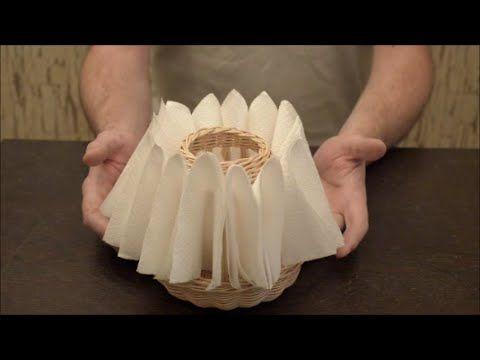 Плетение из лозы-Оригинальная подставка для салфеток-Wickerwork - YouTube