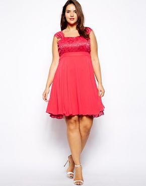 Image 4 ofLipstick Boutique Plus Lace Bodice Skater Dress
