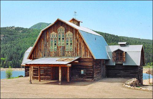 The Barn At Evergreen Memorial Park In Evergreen Colorado Glass Windows Rustic Decor