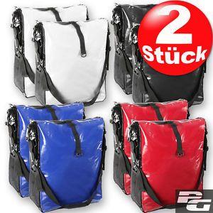 2-XL-Fahrradtasche-Wasserdicht-LKW-Plane-Gepaecktraegertasche-Fahrrad-Gepaecktasche