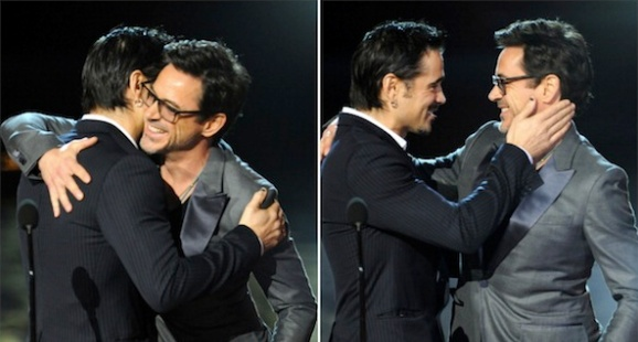 Pals Colin Farrell and Robert Downey Jr. (at the Spike TV Scream Awards, 2011).