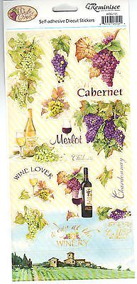 Reminisce WRATH OF GRAPES ICONS Cardstock Sticker Sheet scrapbooking WINE