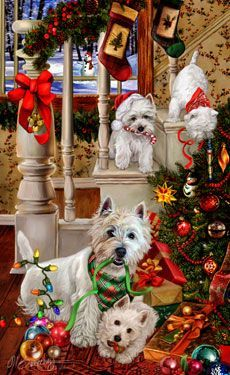 347 Best Westie Christmas Images On Pinterest
