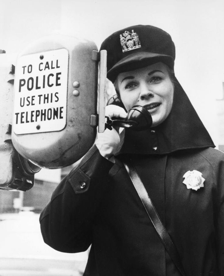 Prior to the portable radios now used by police, officers used call boxes on the street to contact one another. This photo, taken in the early 1960s, is when the few women serving at the time were assigned to the Women's Bureau. Today, over 5,000 women serve in all ranks within the NYPD. Shared by NY Firestore