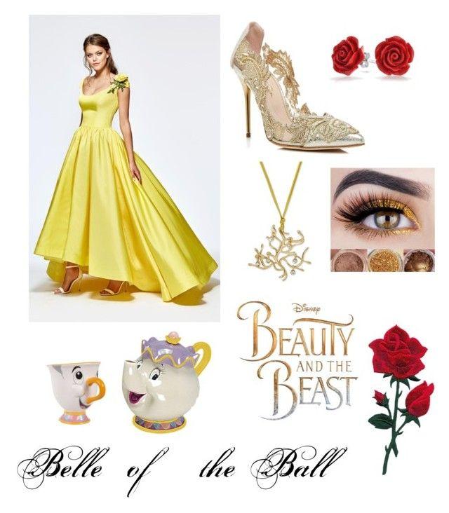 """Beauty and The Beast🥀✨"" by erinkennedy1 on Polyvore featuring Tarik Ediz, Oscar de la Renta, Bling Jewelry and Disney"