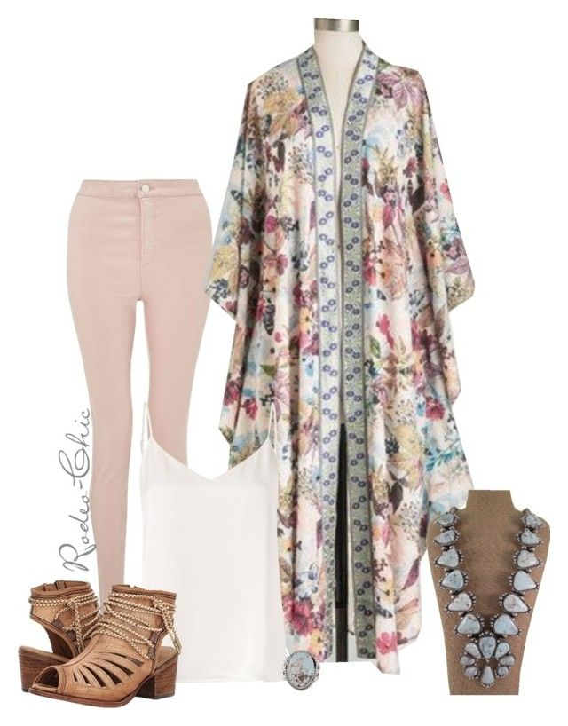 """""""Broken Halos"""" by rodeo-chic ❤ liked on Polyvore featuring Miss Selfridge, L'Agence, Corral, vintage and country"""