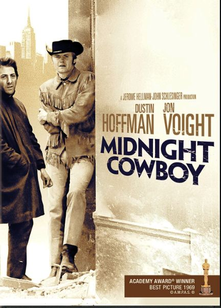 Midnight Cowboy (1969) A naive hustler travels from Texas to New York to seek personal fortune but, in the process, finds himself a new friend.Director: John Schlesinger Writers: Waldo Salt (screenplay), James Leo Herlihy (based on the novel by) Stars: Dustin Hoffman, Jon Voight, Sylvia Miles #movie #cinema #stars #novel