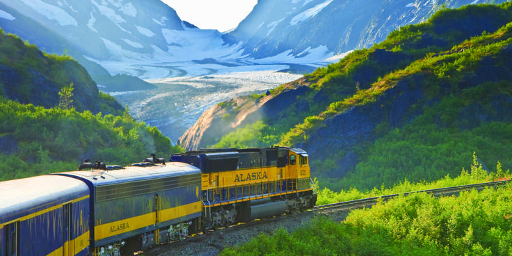 Rail travel in Alaska starts in Anchorage. Engines travel south to Whittier and Seward and north to Denali National Park and beyond. Booking: https://www.alaskarailroad.com/