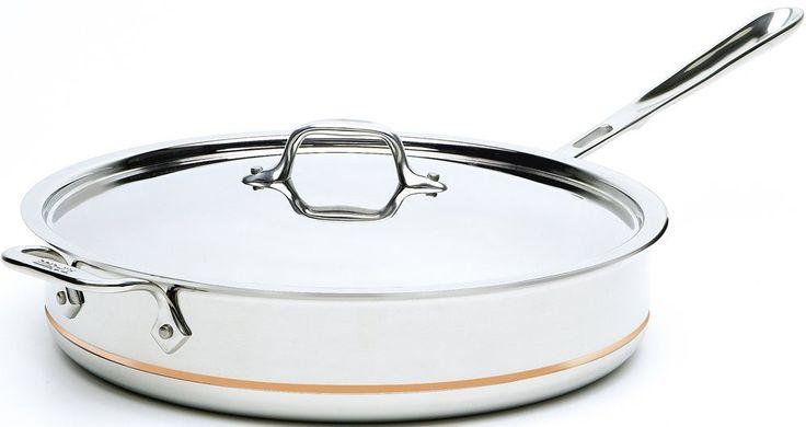 All-Clad Copper Core 6-Quart Saute Pan with Lid