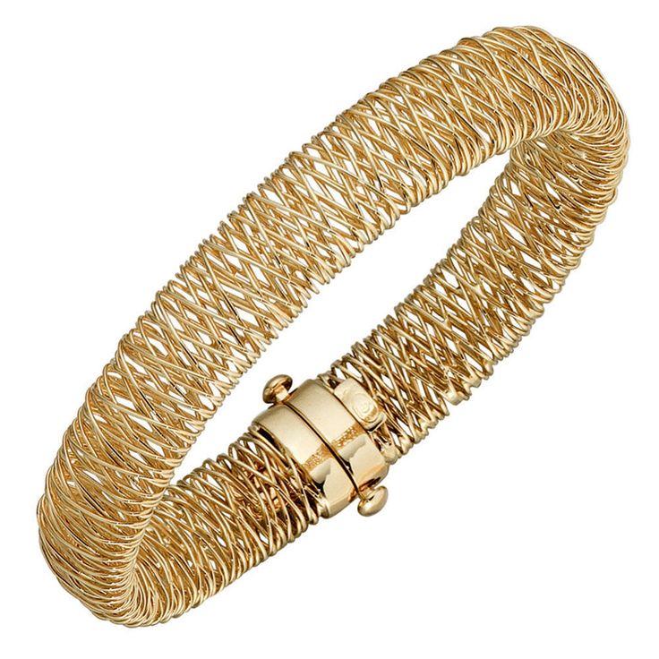 Armband Armreif 585 Gold Gelbgold 19 cm Kastenschloss A32311