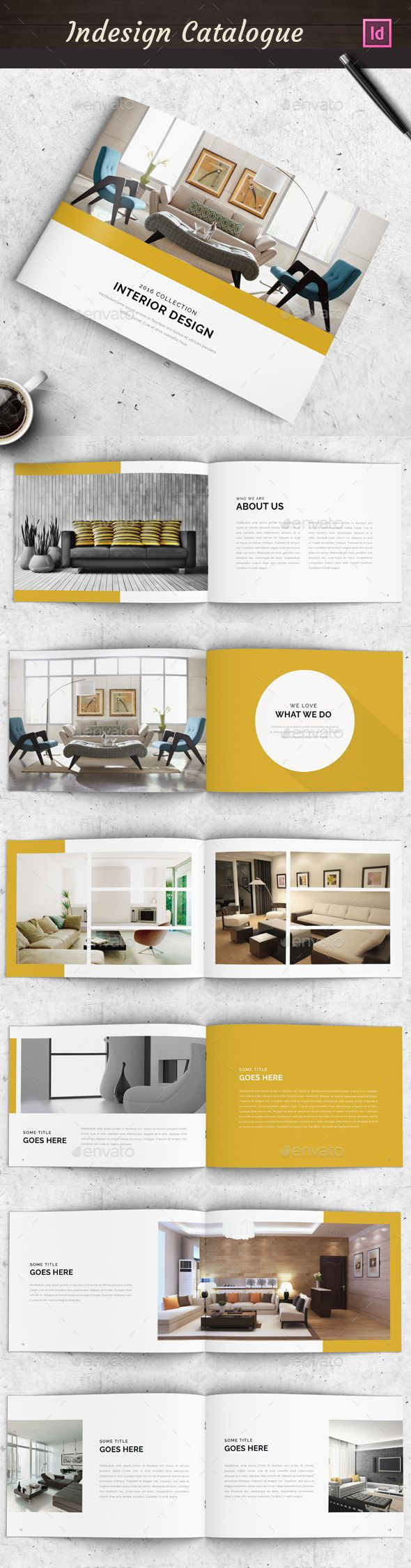 Interior Design See More 12 Pages A5 Minimal Portfolio Brochure Template InDesign INDD Download Here