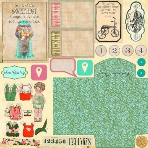 Marion Smith NEVER GROW UP Scrapbooking Paper Remember This