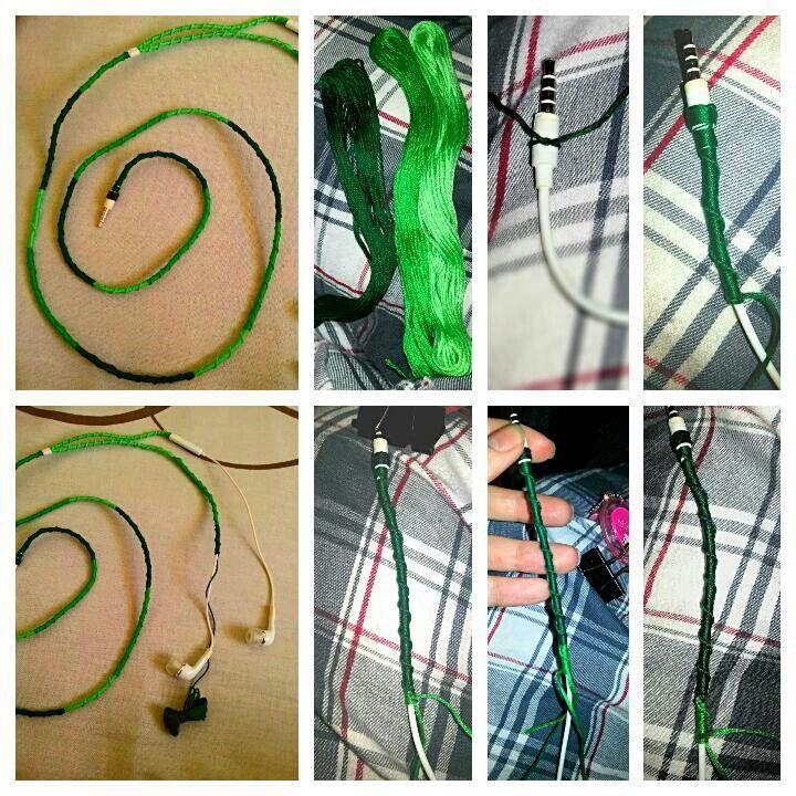 My DIY friendship bracelet headphones