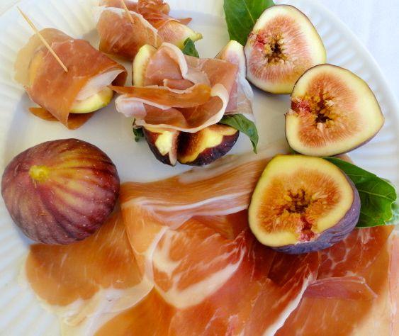 """Fresh figs and Prosciutto """"Ciao Tesoro"""" Rita Romano  www.amazon.com"""