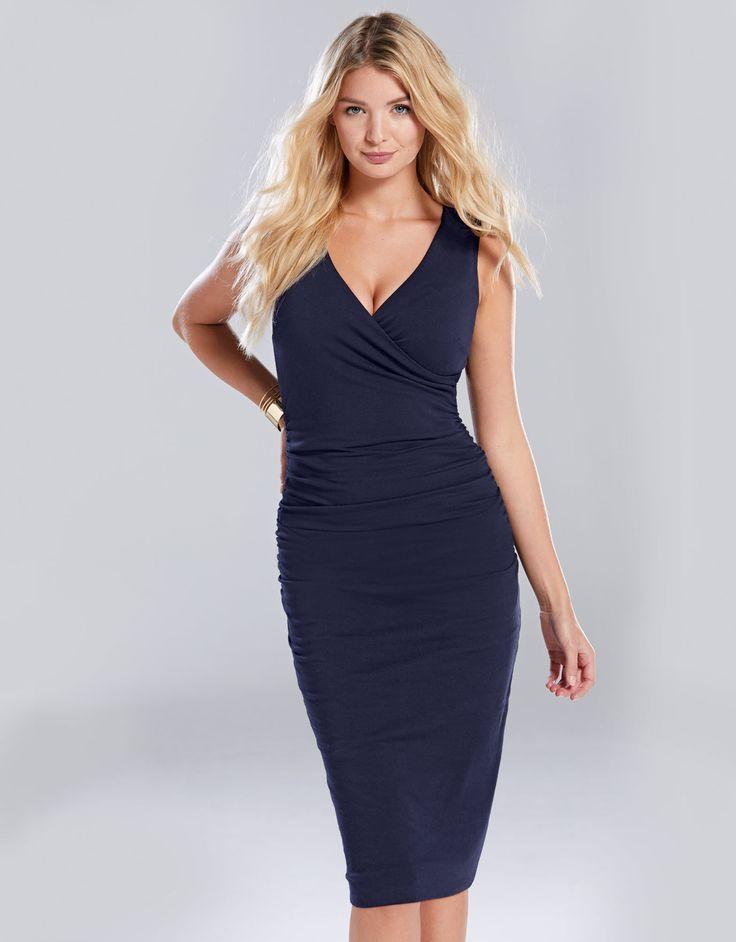 Leila Dress in Navy by Bravissimo Clothing