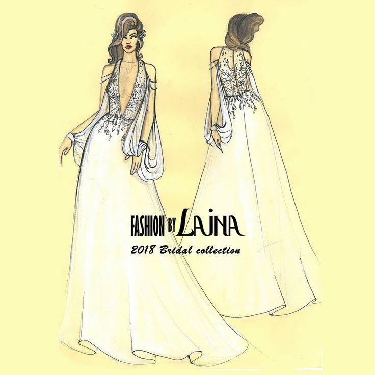 Wait till you see this dress live. It's out of this world. Our 2018 Bridal Collection premieres at @barcelonabridalweek . . . . . .  #weddingdresses #2018bridal #BBFW17 #Barcelonabridalcapital #newfashiondesigner #bridalgown #fashion #wedding #vestidodanovia #bridaldress #weddingstyle #boda #novia #fashionbylaina #bridal #barcelonabridalweek2017