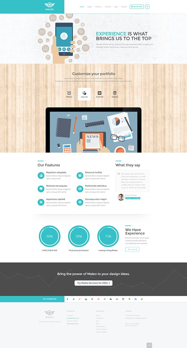Maleo - Clean Corporate WordPress Theme on Behance
