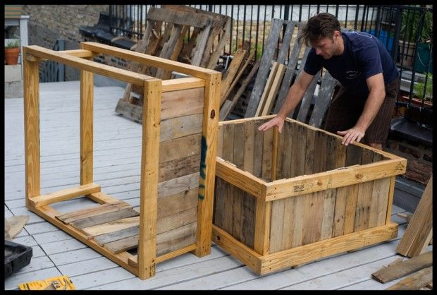 repurposed pallets for raised bed