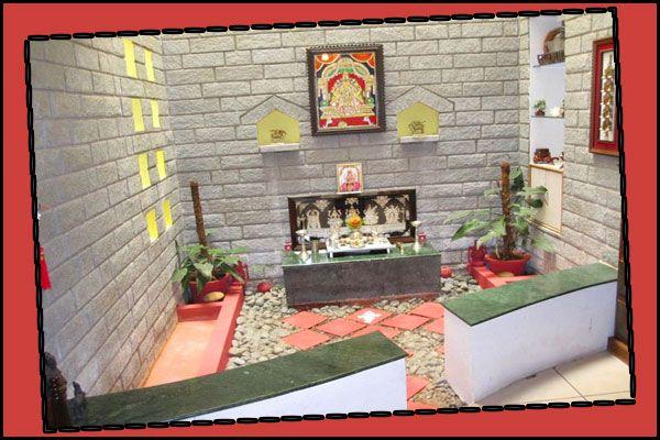 indian pooja altar door design malaysia - Google Search