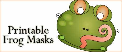 Cute frog masks to print and a frog mask coloring page - part of our ongoing series of free printable animal masks.