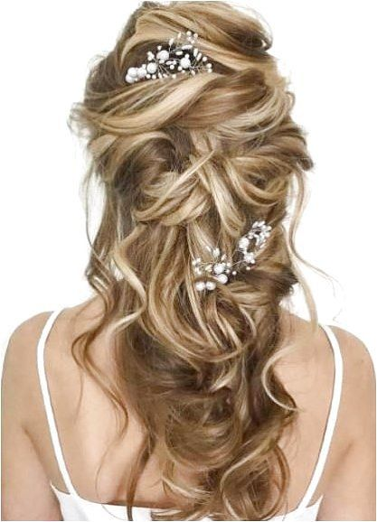 1 Bridal Messy Wavy Half Updo - click on the image or link for more details.