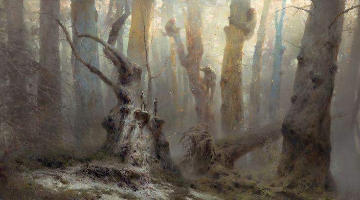 Great Tree People/Dishonored 2, Piotr Jabłoński on ArtStation at https://www.artstation.com/artwork/bbo3o