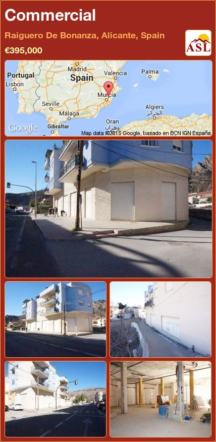 Commercial in Raiguero De Bonanza, Alicante, Spain ►€395,000 #PropertyForSaleInSpain