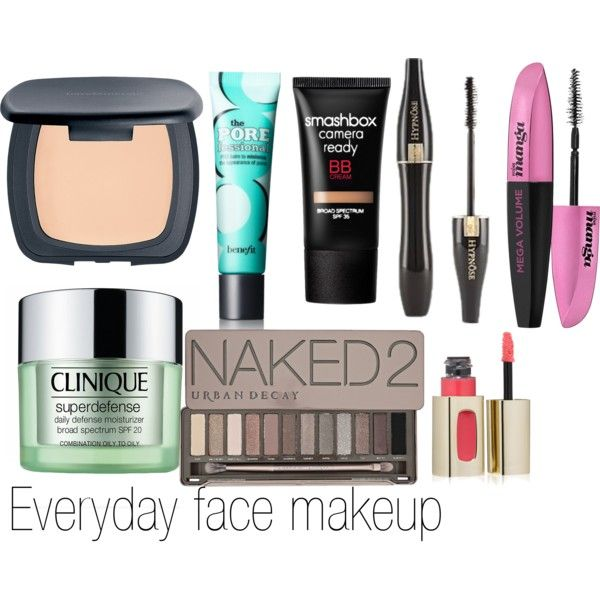 """everyday face makeup"" by jaeliene on Polyvore"