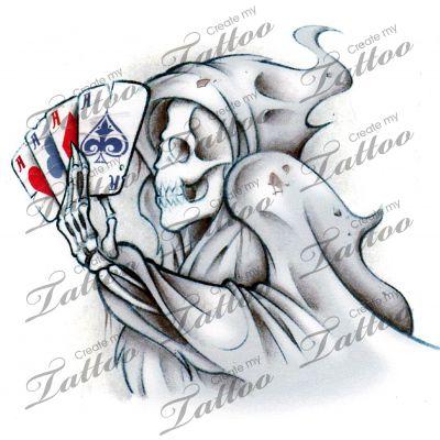Marketplace Tattoo Death Poker #16794   CreateMyTattoo.com