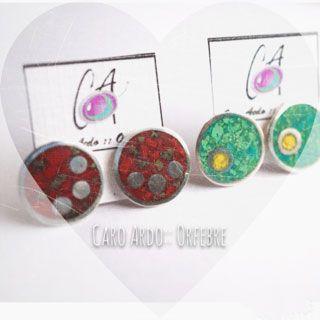 Aros de plata y piedras naturales / Silver and natural stone / earrings