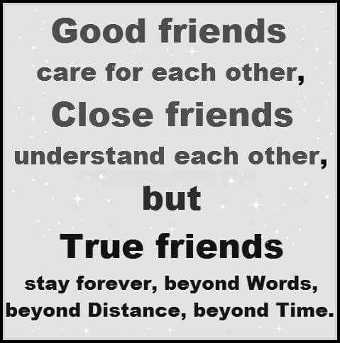 Sanna vänner finns alltid där vid din sida