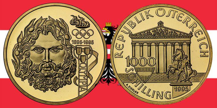 1000 Schilling in Gold Zeus in der Serie 100 Jahre Olympische Bewegung in Österreich › Investment News