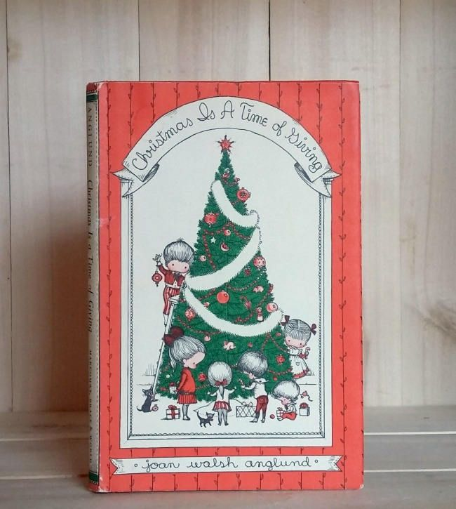 Vintage Book Christmas is a Time of Giving 1961 Joan Walsh Anglund Little Gift Book Children's Books Illustrated Holiday Books by CrookedHouseBooks on Etsy