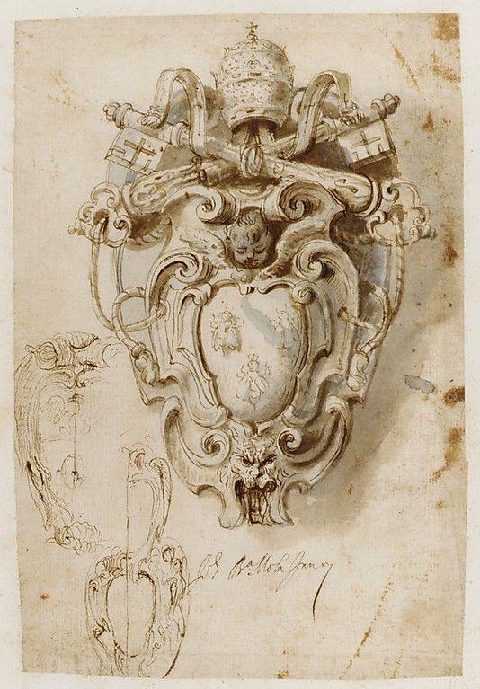 Album Containing Architectural, Ornament, and Figure Drawings. Giovanni Battista Mola (Italian, Coldrerio 1585–1665 Rome)