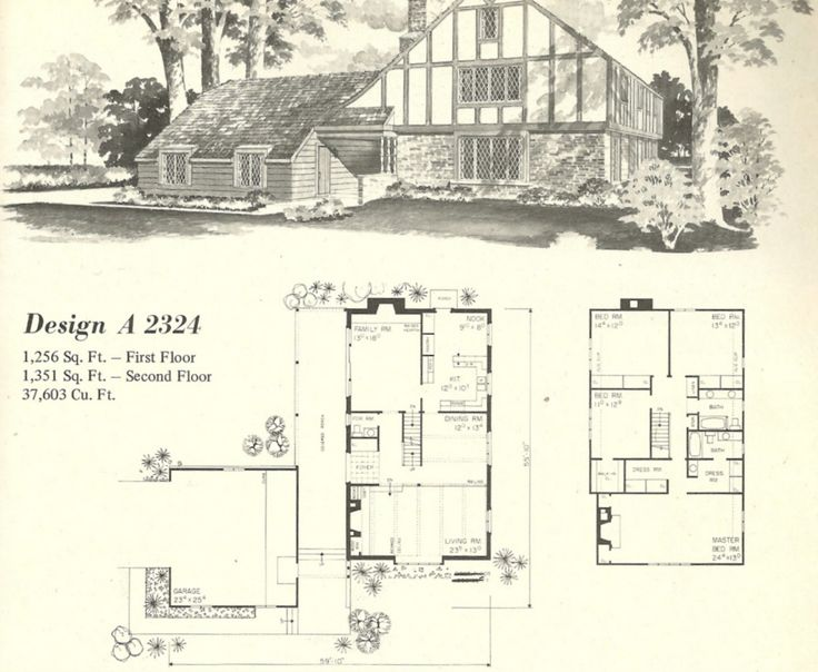 Vintage house plans 1970s homes tudor style vintage for New house plans that look old