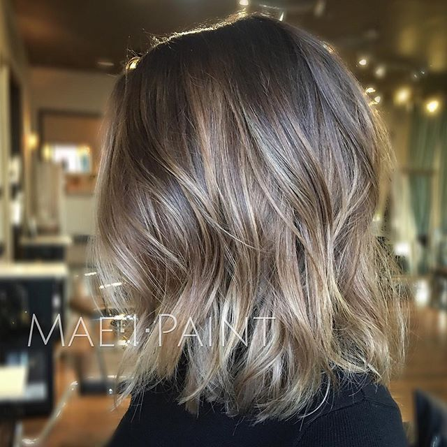 Ashy blonde lob. Working our way to silver and having fun in the process! Toned with 9/16 and 6/16 wella #maeipaint