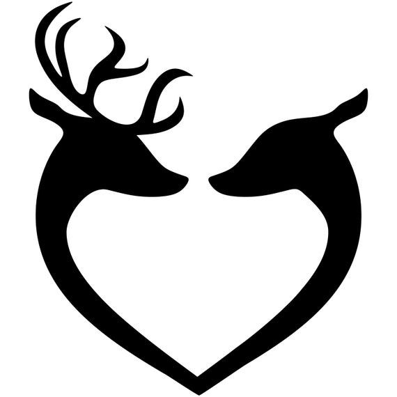 Buck and Doe, Deer SVG, Couple Silhouette, Male And Female ...