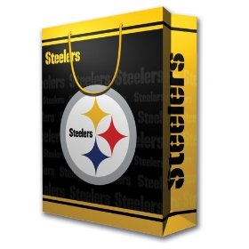 NFL Pittsburgh Steelers Gift Bag, Large, (terrible towel, steelers, pittsburgh steelers, nfl, towels, pittsburgh, throw blankets, gloves, wrapping paper, cheap throw blanket)