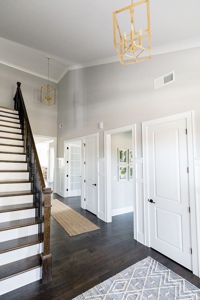 Sherwin Williams Light French Gray The Paint Color Throughout The Gray Is Sherwin Willi Light Grey Paint Colors Paint Colors For Living Room Gray Painted Walls
