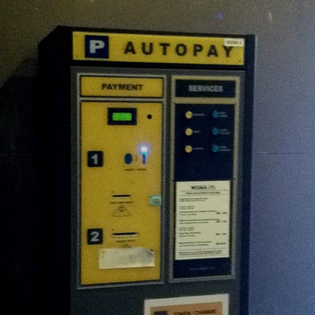 Parking ticket pay machine