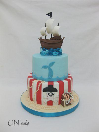 C208.  Merirosvokakku.  Pirate cake