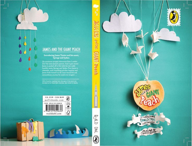 james and the giant peach | Book Cover Design