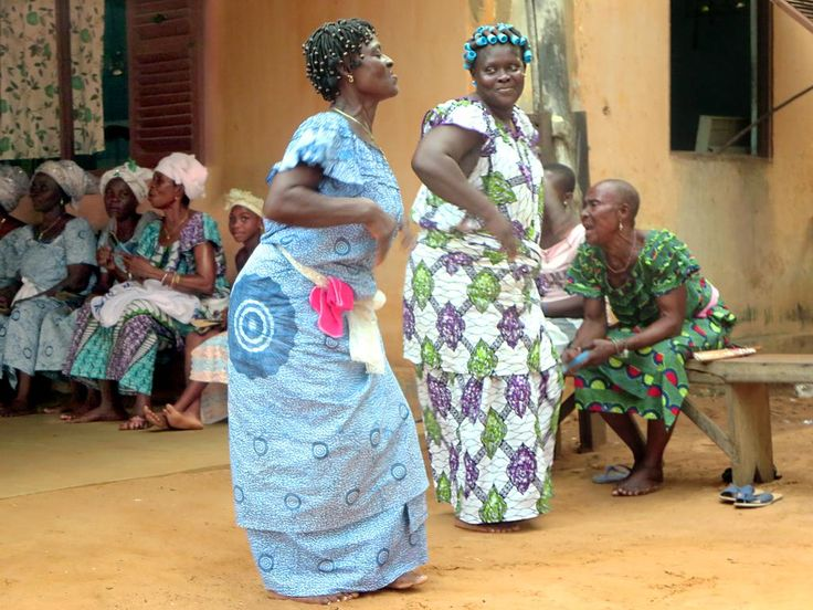 Female dancers at a voodoo ceremony in Lome, Togo.