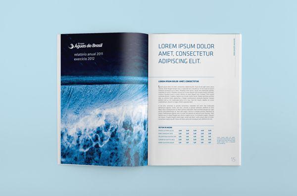Águas do Brasil  |  Annual Report 2011 by Níkolas Espíndola, via Behance