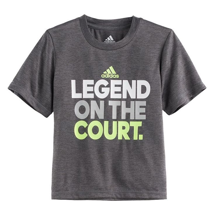 "Boys 4-7x Adidas ""Legend On The Court"" Graphic Tee, Size: 4, Dark Grey"