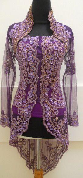 Purple Indonesian Kebaya from eBay